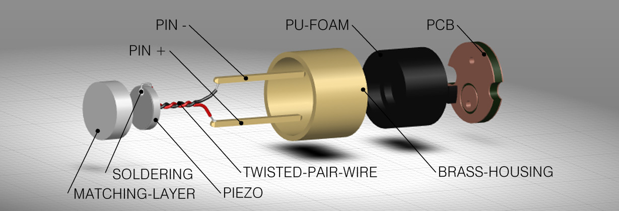 Simply ingenious! – 300 kHz ultrasonic transducers with solder pins in 5mm grid dimension